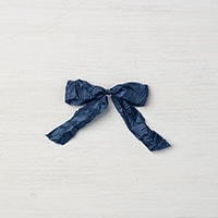 "Night Of Navy 5/8"" Crinkled Seam Binding Ribbon"