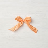 "Peekaboo Peach 5/8"" Crinkled Seam Binding Ribbon"