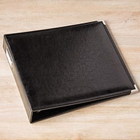 "Black Faux Leather 12"" X 12"" Album"