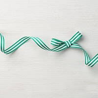"Emerald Envy 3/8"" Striped Grosgrain Ribbon"