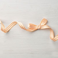 "Peekaboo Peach 3/8"" Striped Grosgrain Ribbon"