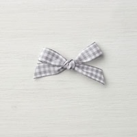 "Smoky Slate 1/2"" Gingham Ribbon"