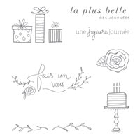 Joyeuse Journée Clear-Mount Stamp Set (French)