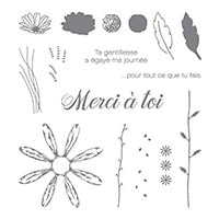 Adorable Marguerite Photopolymer Stamp Set (French)