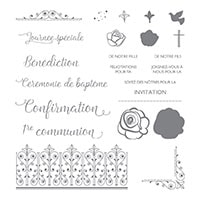 Événements Spirituels Photopolymer Stamp Set (French)