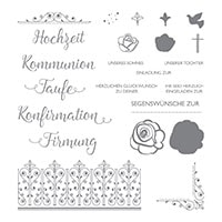 Segensfeste Photopolymer Stamp Set (German)