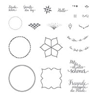 Schönheit Des Orients Photopolymer Stamp Set (German)