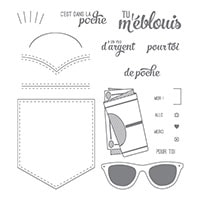 Dans La Poche Photopolymer Stamp Set (French)