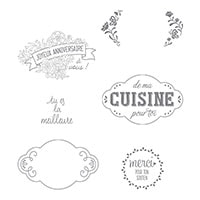 Charmantes Étiquettes Clear-Mount Stamp Set (French)