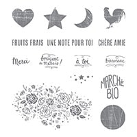 Du Marché Bio Clear-Mount Stamp Set (French)