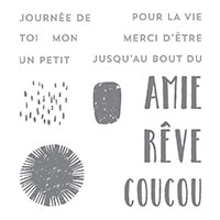 Joliment Inversé Clear-Mount Stamp Set (French)