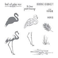 Fabuleux Flamant Photopolymer Stamp Set (French)