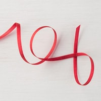 "Real Red 1/8"" (3.2 Mm) Solid Ribbon"