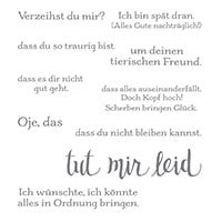Es Tut Mir Leid Clear-Mount Stamp Set German (German)