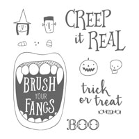 Creep It Real Wood-Mount Stamp Set