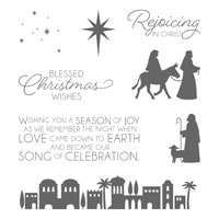 Night In Bethlehem Wood-Mount Stamp Set