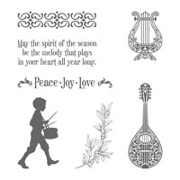 Musical Season Wood-Mount Stamp Set
