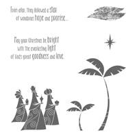 Wise Men From Afar Wood-Mount Stamp Set