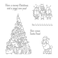 Santa Paws – clear mount stamp