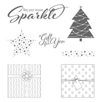 Add A Little Glitz Clear-Mount Stamp Set