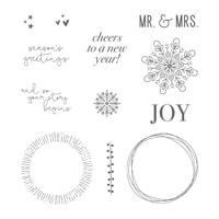 Cheers To The Year Clear-Mount Stamp Set