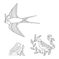 Cheery Chirps Clear-Mount Stamp Set