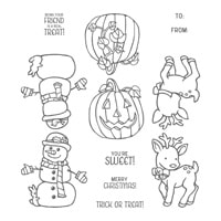 Seasonal Chums Wood-Mount Stamp Set