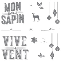 Cantiques De Noël Clear-Mount Stamp Set (French)