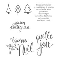 Noël Au Pinceau Clear-Mount Stamp Set (French)