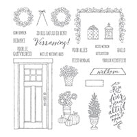Thuiskomen Photopolymer Stamp Set (Dutch)