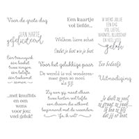 De Mooiste Momenten Clear-Mount Stamp Set (Dutch)