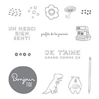 Motifs Et Croquis Clear-Mount Stamp Set (French)