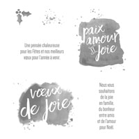 Que De Bons Vœux Clear-Mount Stamp Set (French)