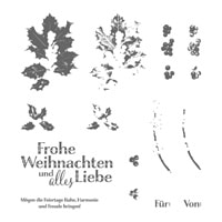 Harmonische Feiertage Photopolymer Stamp Set (German)