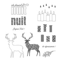 Joyeux Motifs Photopolymer Stamp Set (French)