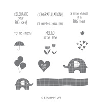 Little Elephant Clear-Mount Stamp Set