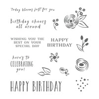 Perennial Birthday Wood-Mount Stamp Set