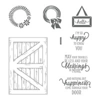 Barn Door Wood-Mount Stamp Set