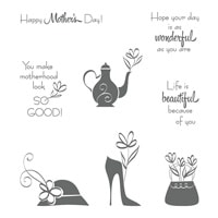 A Mother's Flair Wood-Mount Stamp Set