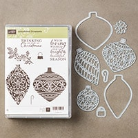 Embellished Ornaments And Delicate Ornament Bundle (Clear)