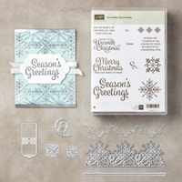 Snowflake Sentiments Wood-Mount Bundle