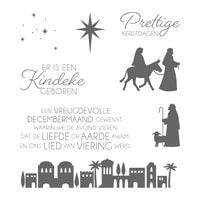 Nacht In Bethlehem Clear-Mount Stamp Set (Dutch)