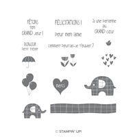 Petit Éléphant Clear-Mount Stamp Set (French)