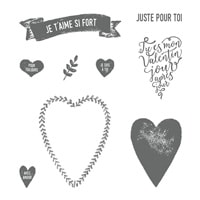 Je T'aime Si Fort Clear-Mount Stamp Set (French)