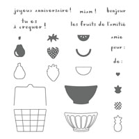 Panier De Fruits Photopolymer Stamp Set (French)