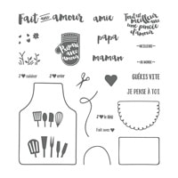 Tablier D'amour Photopolymer Stamp Set (French)