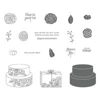 Gâteau Élégant Clear-Mount Stamp Set (French)