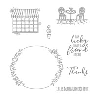 Charming Café Clear-Mount Stamp Set