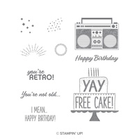 Free Cake Clear-Mount Stamp Set