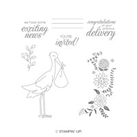 Precious Delivery Wood-Mount Stamp Set